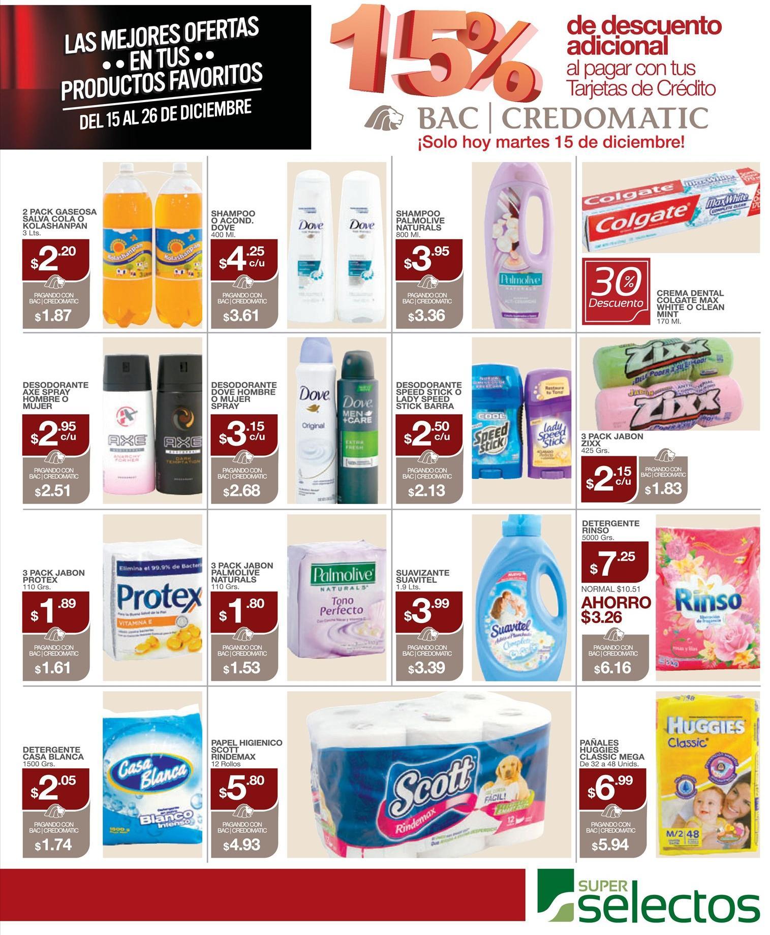 CREDOMATIC 15 off en tus productos favoritos SELECTOS - 15dic15