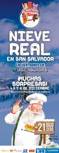 Christmas SIVAR LAS CASCADAS te invita a conocer NIEVE REAL