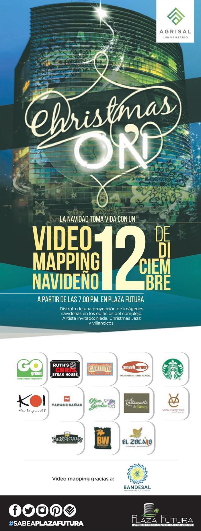 Christmas show VIDEO Mapping plaza futura