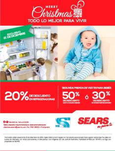 Descuentos for BABIES sears elsalvador for christmas holidays