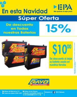 EPA Super ofertas de navidad en baterias RECORD