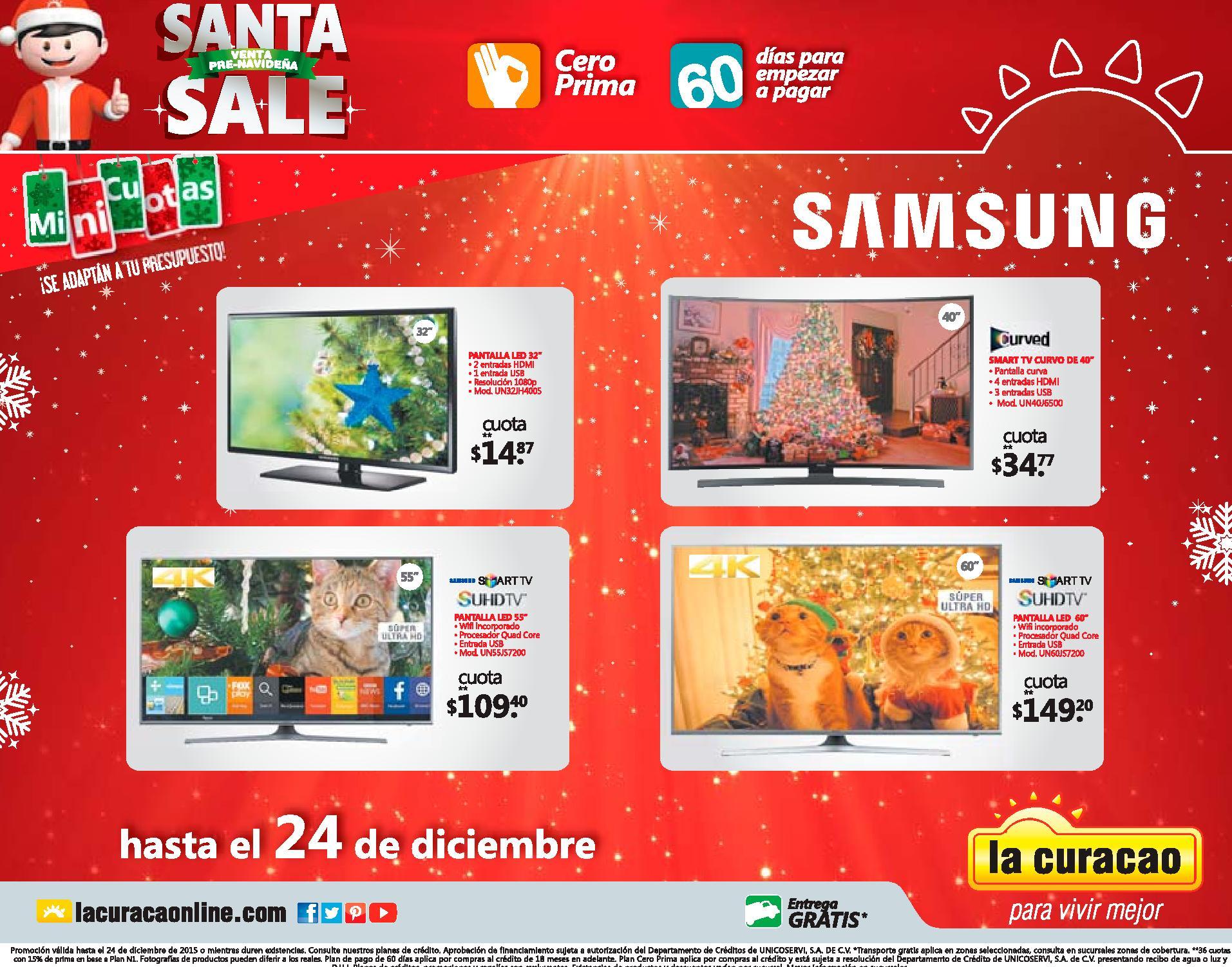 LA CURACAO ofertas en ultima tecnologia de pantallas y televisores smart