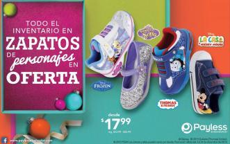 PAYLESS oferta TODO el inventario de zapatos de personaje