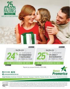 RAZONES para esta navidad 2015 al pagar con tus tarjetas promerica