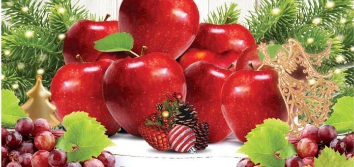 UVAS y MANZANAS para los deseos y buenas nuevas de navidad