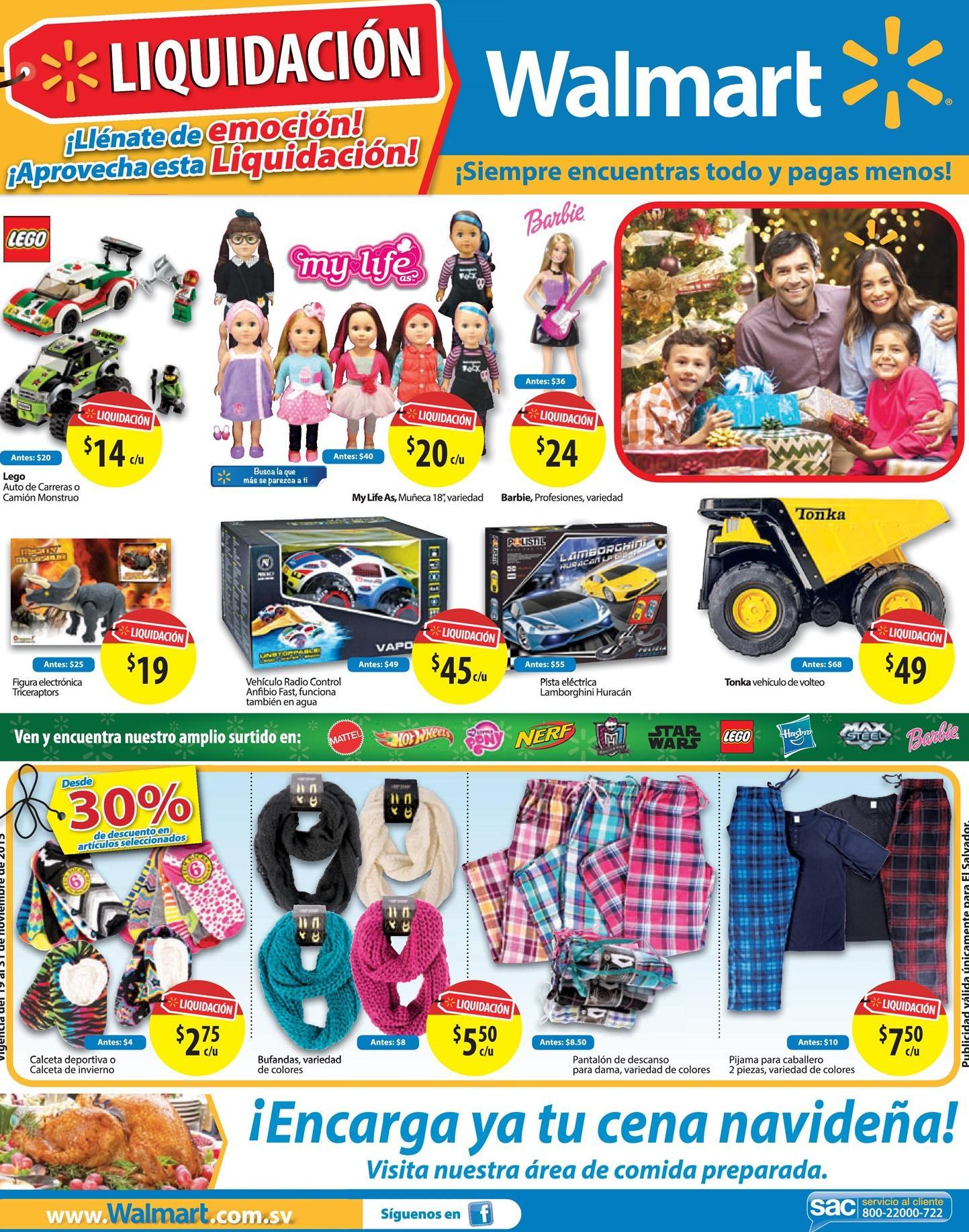 WALMART Fin de semana LIQUIDACIONEs en ropa y juguetes - 19dic15