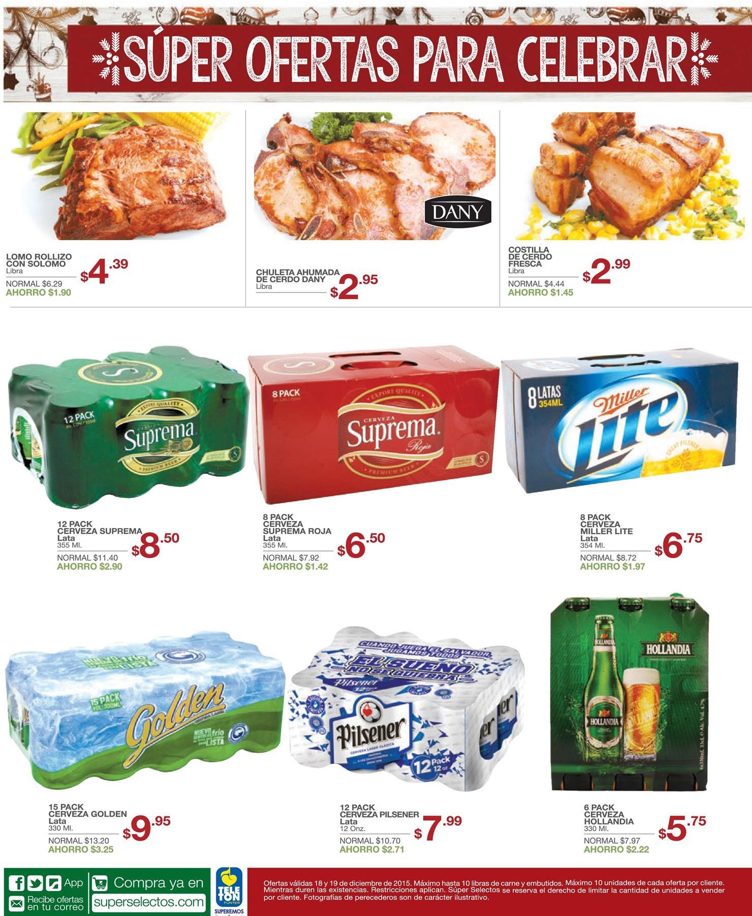 cervezas en oferta en tu super selectos - 18dic15