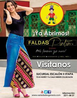 new collection apparel FALDAS PINTIN by GENESIS