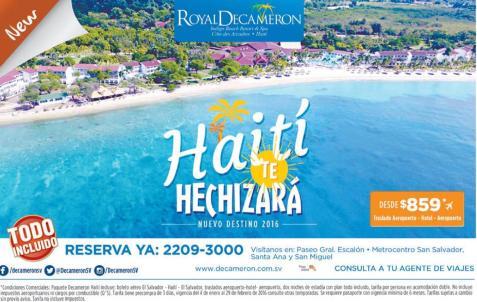 new resort on caribe sea DECAMERON Haiti Hechizara