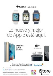 nuevos y modernos dispositvos apple watch and apple tv