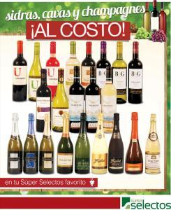 super selectos promociones Sidras CAVAS champagnes VINOS al COSTO