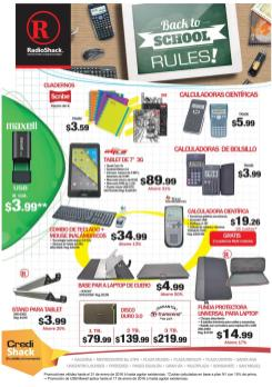 Back to school 2016 RULES techologies accesories RADIO SHACK