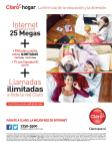 CLARO promociones Nuevo internet residencial de 25 MB