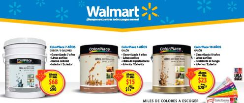 COLOR PLACE paint promociones WALMART enero 2016