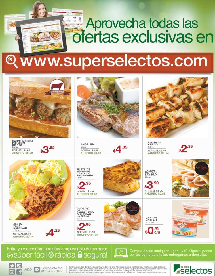 Hacer compras del super selectos en linea - enero 2016