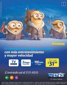 MINIONS back to school promotions TV CABLE suscriptions