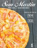 Pizzas rusticas Promociones SAN MARTIN aniversario 2016