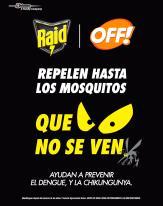 RAID OFF te ayuda a repeler dengue zika y chikungunya