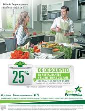 25 OFF restaurantes y floristerias Aprovecha este descuento de banco Promerica