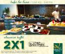 Almuerzos buffet 2x1 LOS BALCONES restaurante bar - Febrero 2016