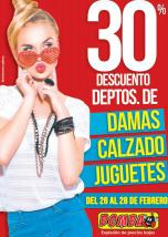 BOMBA weekend discounts hasta 30 off en damas calzados juguetes - 26feb16