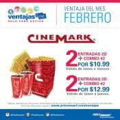 CINEMARK 2x1 Ventajas de los socios pricesmart en FEBRERO 2016