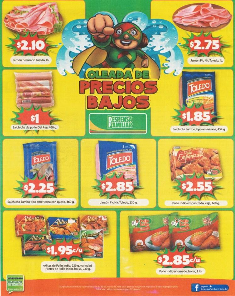 DESPENSA FAMILIAR ofertas en Jamones Salchichas y Alistas empanizados con precio bajo