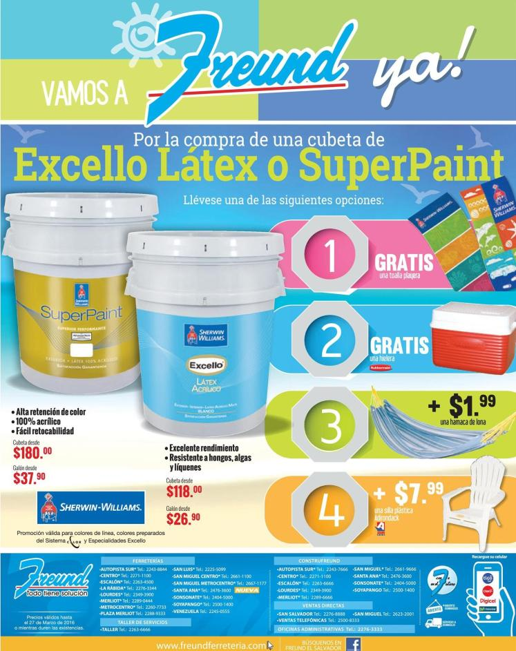 Estas son las promociones de verano 2016 de pinturas sherwin williams