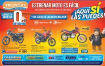 Estrena tu moto de almacenes tropigas el salvador - Febrero 2016