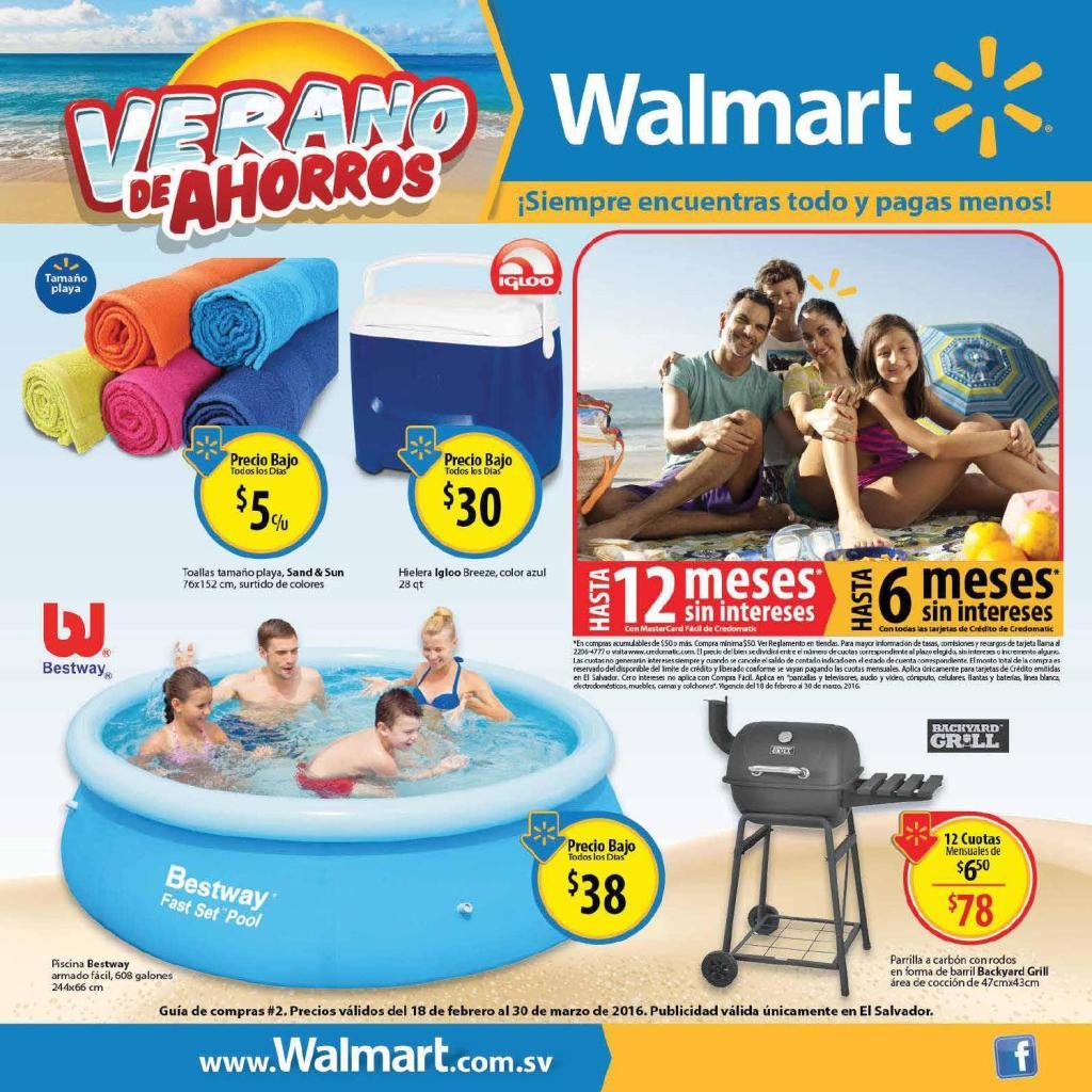 Guia de Ofertas de VERANO 2016 supermercado WALMART el salvador