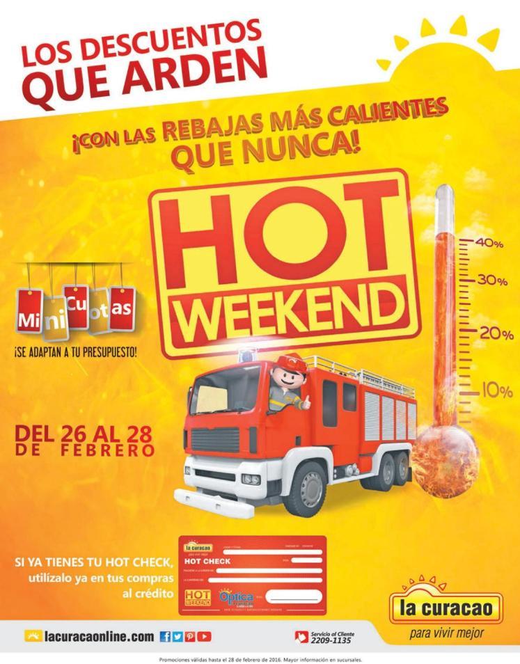 La Curacao HOT weekend 2016 descuentos y rebajas calientes