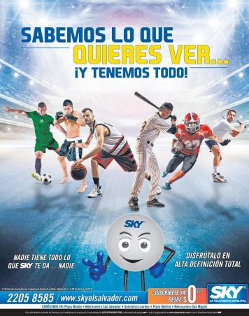 Las temporadas completas de deportes internacionales SKY satellital television