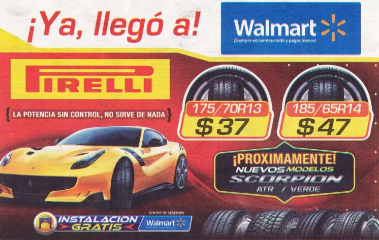 Ofertas de llantas en WALMART car deals new models TIRES pirelli