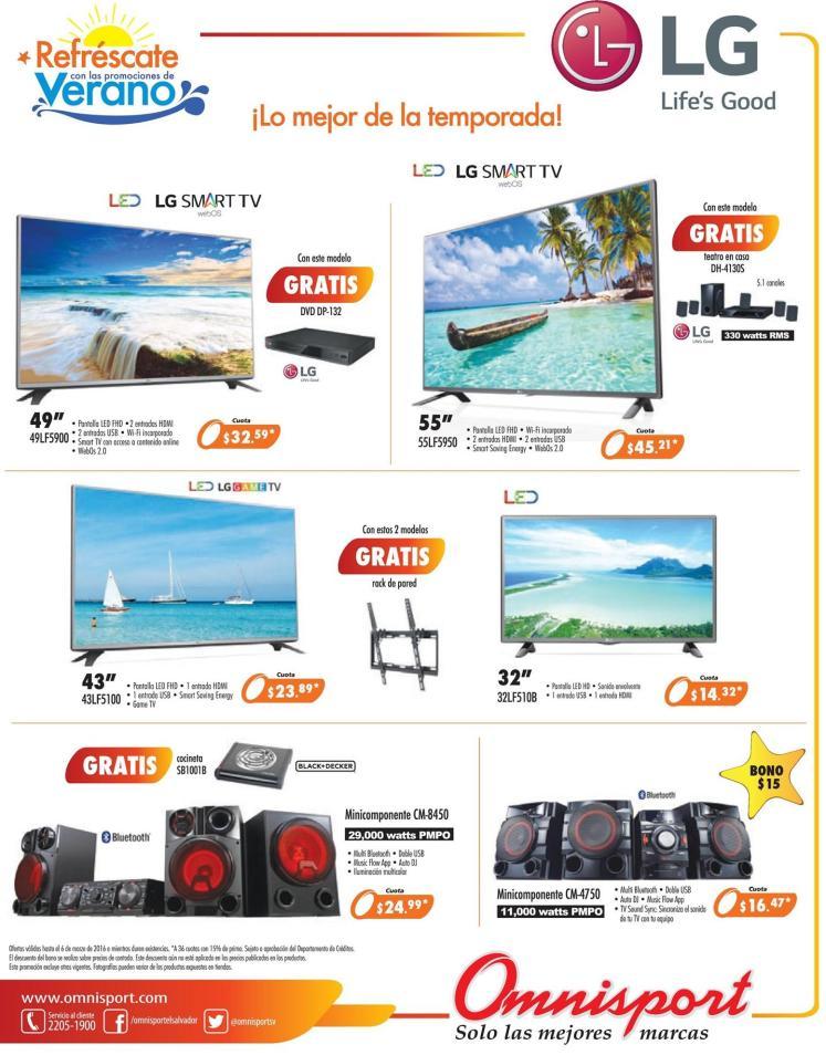 Potencias en sonido y calidad LG sound system