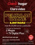 Promociones CLARO hogar tiene video online on demand ilimitado