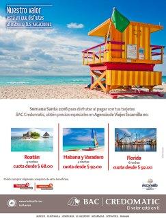 Promociones CREDOMATIC Vacaciones de Semana Santa 2016