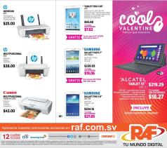 RAF Precios en telefonos tablets impresores que enamoran - Febrero 2016