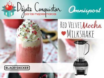 Red velvet mocha MILKSHAKE for valentin desserts