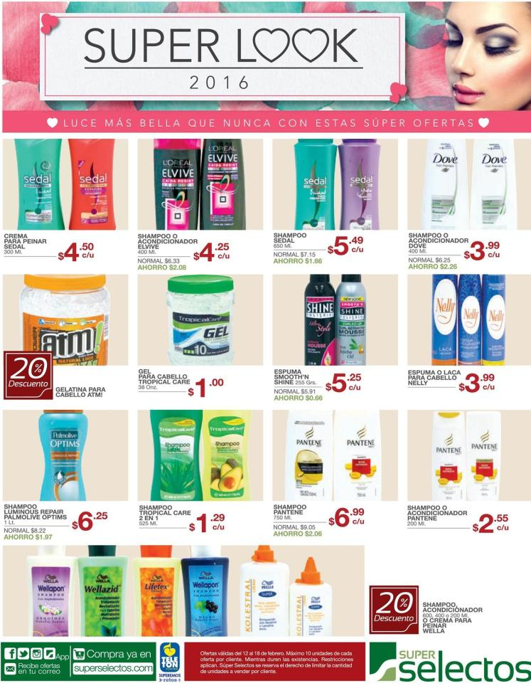 Super ofertas de belleza en super selectos - 12feb16