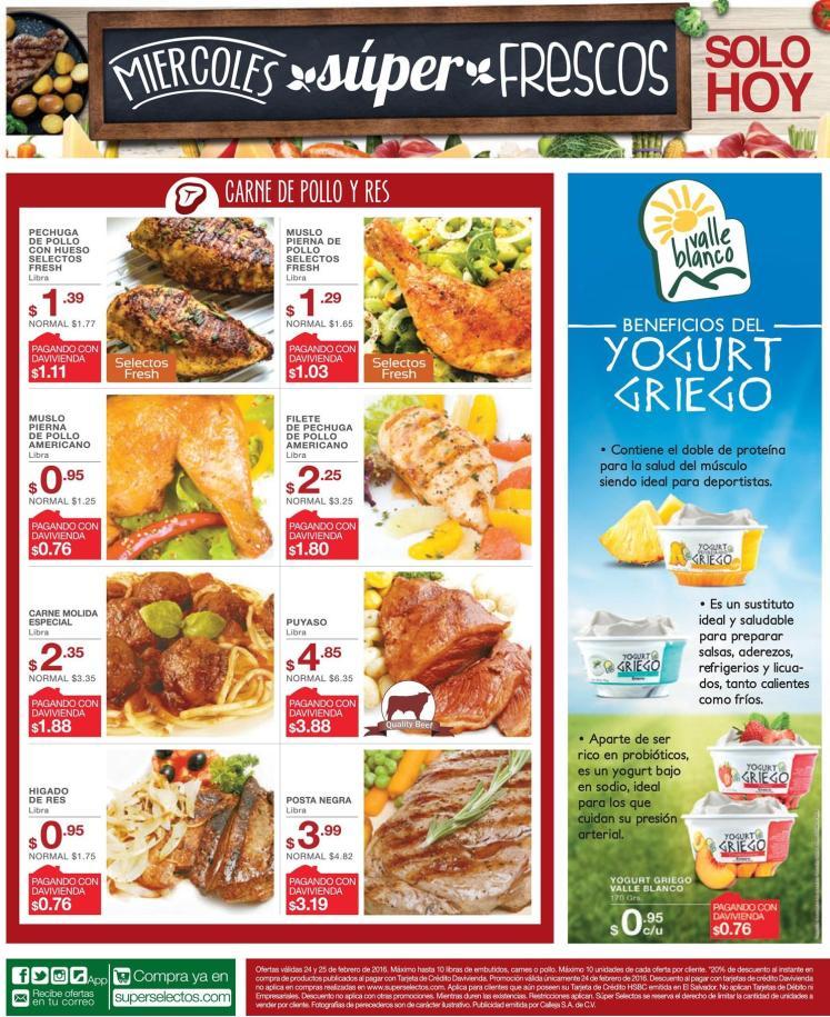 super selectos ofertas de miercoles frescos - 24feb16