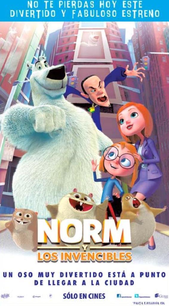 Ahora estreno infantil NORM los invencibles the movie