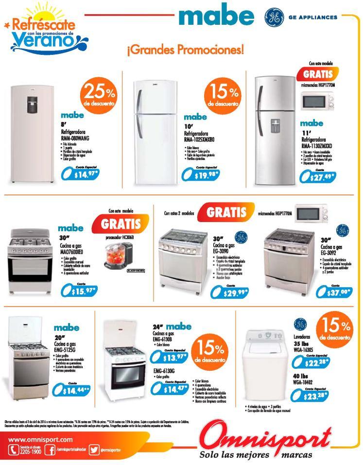 Appliances deals elsalvador almacenes omnisport