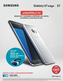 CLARO inicia hoy venta del nuevo smartphone SAMSUNG S7 edge