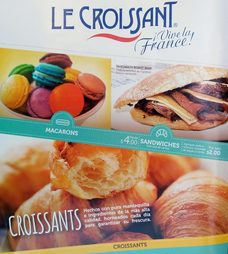 CROISSANTS el salvador especialidades MACARONS and sandwiches