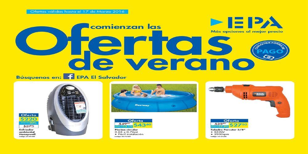 Ferreteria epa sv folleto de ofertas de verano 2016 for Alberca portatil walmart