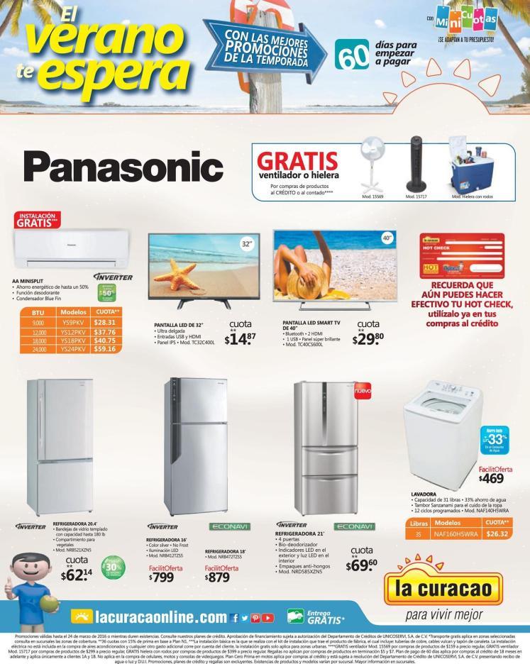 La CURACAO verano promociones en electrodomesticos - 11mar16