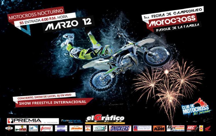 MOtOCROSS nocturno en el salvador show free style internacional