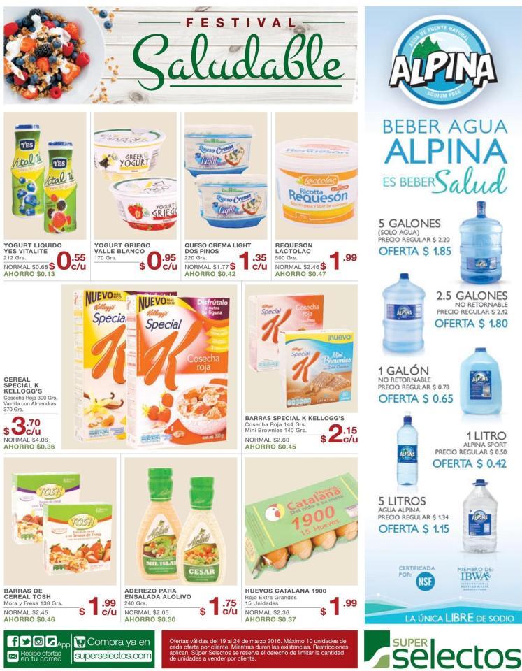 Promociones en productos de comida saludables