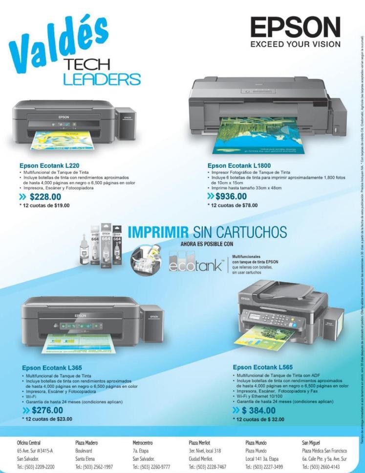 Promociones y soluciones de impresion EPSON laser ecotank