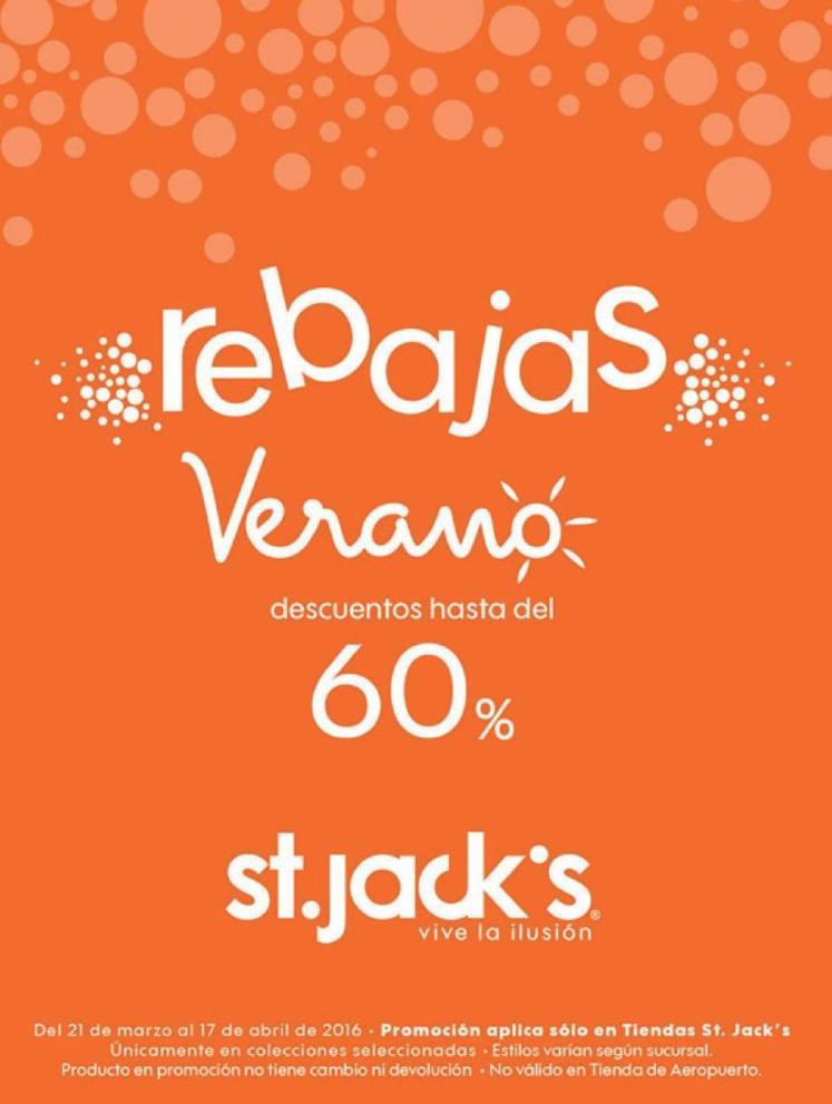 REBAJAS de verano hasta 60 off en tiendas st jacks
